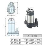 máy bơm nước thải hanil ip 435f tskt