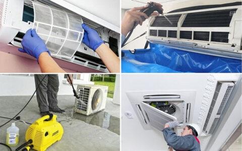 cách vệ sinh điều hòa bằng máy rửa xe mini