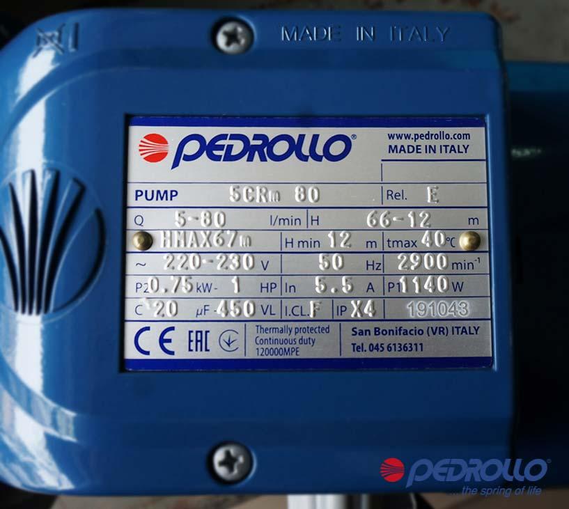 Máy bơm ITALY ly tâm Pedrollo 5CRm 80-N
